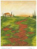 Tuscany at Sunset II Poster by Jennifer Goldberger