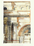 Classical Architecture with Goldleaf I Print
