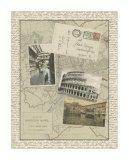 Vintage Map of Rome Giclee Print