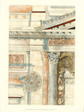 Classical Architecture with Goldleaf II Prints
