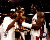 Richard Hamilton & Ben Wallace w/ Championship Trophy ©Photofile Photo