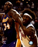 Ben Wallace&amp; Shaquille O&#39;Neal - &#39;04 Finals Action &#169;Photofile Photo