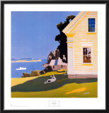 Island Farmhouse, 1969 Art by Fairfield Porter