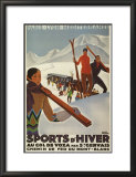Sports d&#39;Hiver dans les Grisons Prints by Roger Broders
