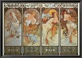 Les Saisons Art by Alphonse Mucha
