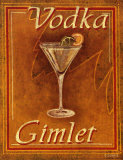 Vodka Gimlet Posters by Catherine Jones