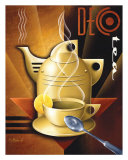 Deco Tea Print by Michael L. Kungl