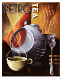 Retro Tea Planscher av Michael L. Kungl
