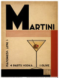 Vodka Martini Prints by Marco Fabiano