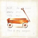 Little Wagon Poster by Lauren Hamilton