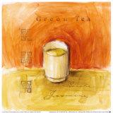 Grüner Tee Kunstdruck von Lauren Hamilton