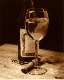 Vintage Chardonnay Poster by Julie Greenwood