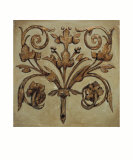 Decorative Scroll II Poster by P. Segovia