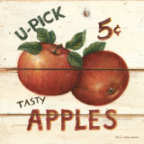 U-Pick Apples, Five Cents Poster by David Carter Brown