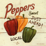 Sweet Peppers Poster van David Carter Brown