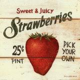 Fresas dulces y jugosas Pósters por David Carter Brown