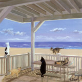 Cat Tails Affiches par Carol Saxe