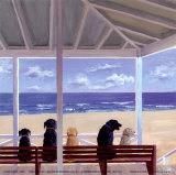Panorámica de perros Pósters por Carol Saxe