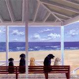 Vista con cani Poster di Carol Saxe