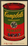 Campbell&#39;s Soup Can, 1965 (green &amp; red) Poster by Andy Warhol