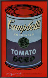 Campbell&#39;s Soup Can, 1965 (blue &amp; purple) Posters by Andy Warhol