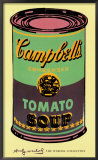 Campbell&#39;s Soup Can, 1965 (green &amp; purple) Prints by Andy Warhol