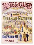 Royal Club Billard Matches, Paris Giclee Print