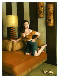 Pin-Up Girl: Kona Kai Motel Room Giclee Print by Richie Fahey
