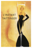 Reclameposter Taittinger, Franse tekst Poster