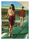 Pin-Up Girl: Caribbean Motel Giclee Print by Richie Fahey