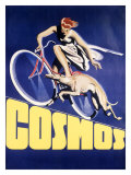Cosmos Greyhound Bicycle Giclee Print