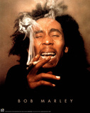 Bob Marley Ganja smoking POSTER reggae pot marijuana Prints