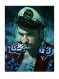 Waikiki Wally&#39;s King of the Sea Giclee Print by Richie Fahey