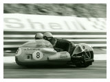Side Car Motorcycle Giclee Print by Giovanni Perrone