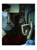 Tenement Apartment, Blue Bedroom Giclee Print by Richie Fahey