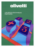 Olivetti Electronic Calculator Key Pad Giclee Print