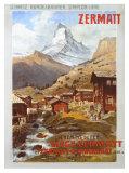 Alpes suisses, Zermatt Matterhorn Reproduction procédé giclée par Anton Reckziegel