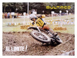 Bultaco Al Limite! MX Motocross Giclee Print