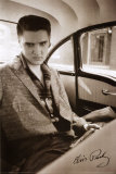 Elvis Presley - Car Poster