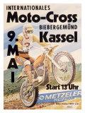 International Kassel Motocross Reproduction procédé giclée