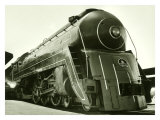 Deco Train Engine Giclee Print