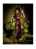 Opium Den Sailor Girl Giclee Print by Richie Fahey