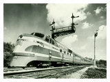 Railroad Train Engine Wydruk giclee