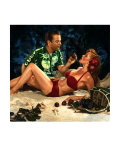 Pin-Up Girl: Island Grotto Giclee Print by Richie Fahey