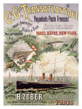 Ciegle Transatlantic Ocean Line Giclee Print