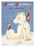 Berner Oberland Snow Ski Reproduction procédé giclée