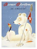 Berner Oberland Snow Ski Giclee Print