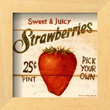 Sweet and Juicy Strawberries Poster by David Carter Brown