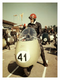 GP Moto Guzzi Motorcycle Race Giclee Print