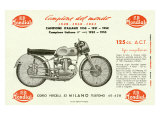 Mondial 125 Motorcycle Giclee Print